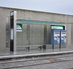 Kent's stainless steel shelter for a railway project in Dublin